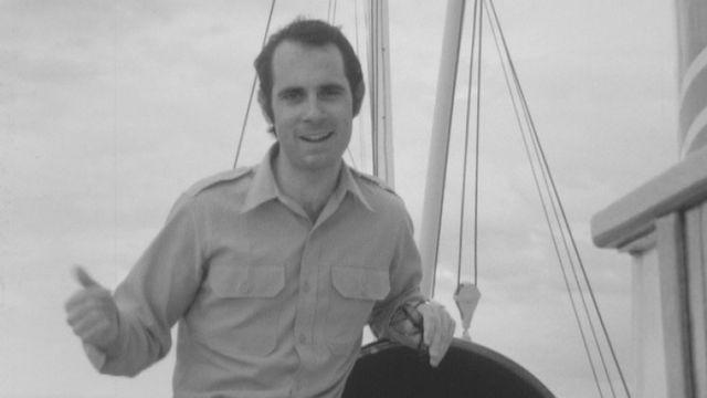 Avec le chanteur Guy Marchand, en 1969. [RTS]