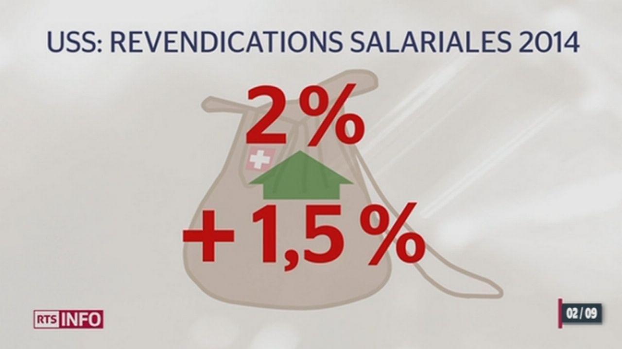 L'Union syndicale suisse présente ses revendications salariales pour l'an prochain [RTS]