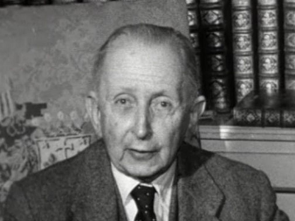 Gonzague de Reynold en 1957. [RTS]