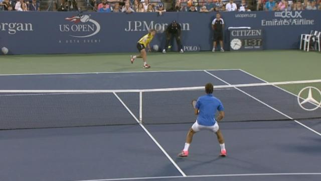 1/8e de finale, Robredo - Federer (7-6, 6-3): la 2e manche pour Robredo après beaucoup trop de fautes de « RF » [RTS]