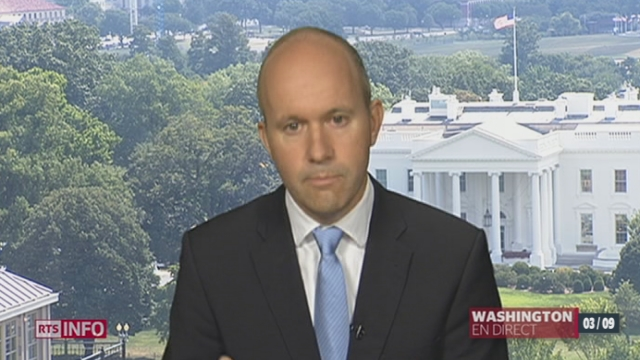 Barack Obama cherche à convaincre les membres du congrès d'intervenir en Syrie [RTS]