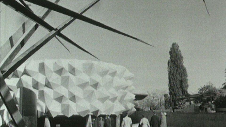 Le secteur de l'armée à l'Expo 64. [RTS]