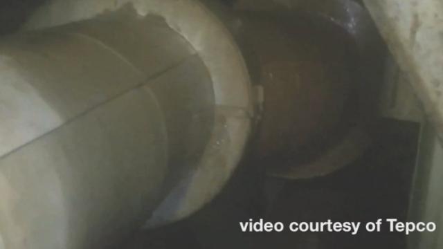 Les premières images des fuites sous la centrale de Fukushima [RTS]