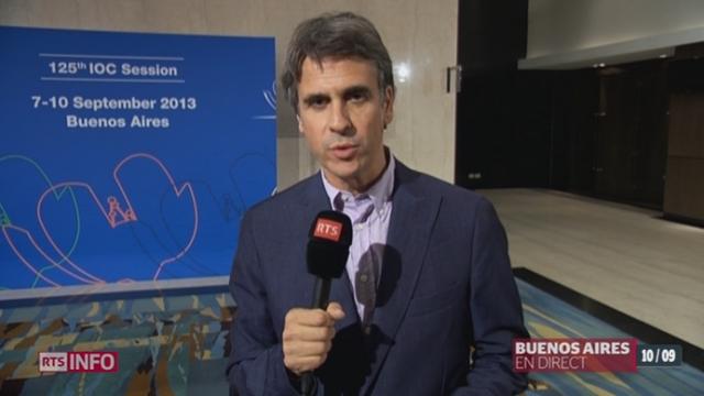 Election du président du CIO: les explications de Miguel Aquiso, depuis Buenos Aires [RTS]