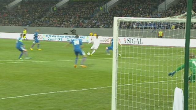 Eliminatoires. Gr. E. Islande - Albanie (0-1). 9e minute: Rama ouvre le score pour l'Albanie! [RTS]