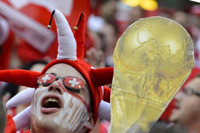 Les supporteurs suisses ont déjà largement célébré la victoire à Oslo. [Laurent Gilliéron - Keystone]