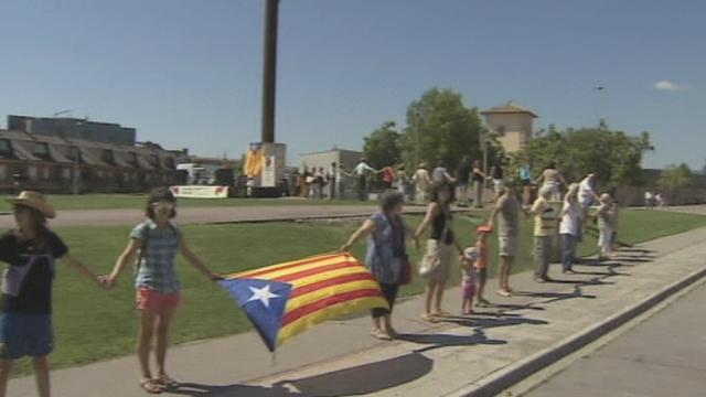Une chaîne humaine pour la Catalogne [RTS]