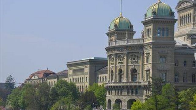 Le Palais Fédéral, à Berne. [Keystone]