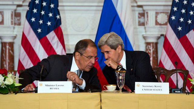 John Kerry Serguei Lavrov [EPA/JIM LO SCALZO - Keystone]