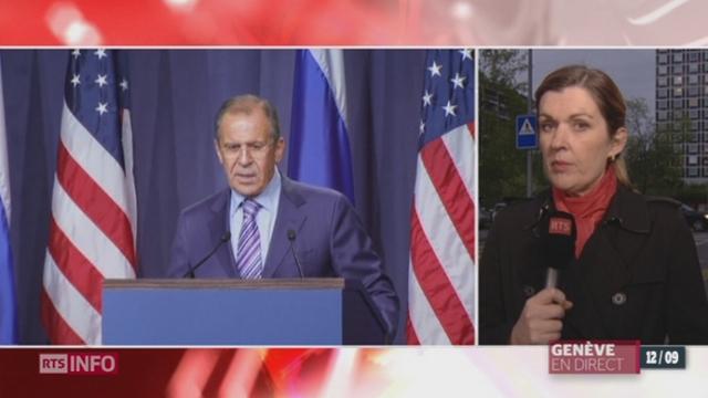 Négociations sur la Syrie à Genève: Serguei Lavrov et John Kerry souhaitent si possible éviter un recours à la force [RTS]