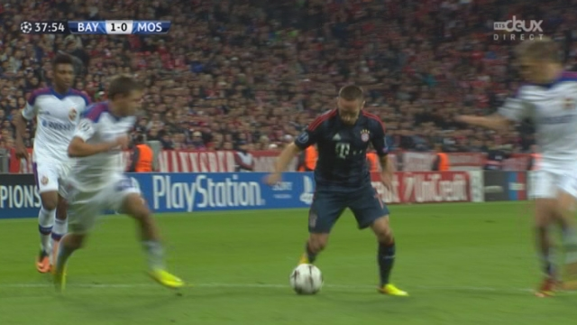 1re journée. Gr. D. Bayern Munich - CSKA Moscou. 37e minute: on croit à nouveau au 2-0 de Mandzukic! [RTS]