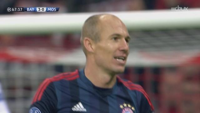 1re journée. Gr. D. Bayern Munich - CSKA Moscou (3-0). 67e minute: Alaba pour Robben, seul - mais pas de hors jeu cette fois [RTS]