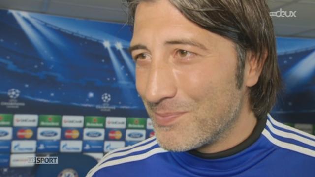 1re journée. Gr. E. Chelsea - Bâle. Murat Yakin, l'entraîneur du FC Bâle, s'explique 24 heures avant le choc [RTS]