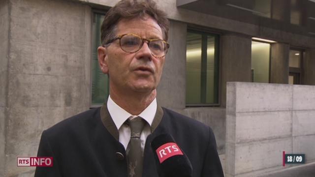 Pierre Condamin-Gerbier, le banquier témoin principal dans l'affaire Cahuzac est sorti de la prison de Berne [RTS]