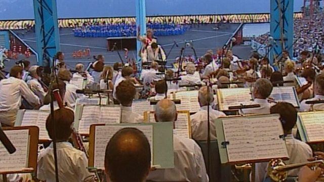 L'OSR participe à la Fête des Vignerons en 1999. [RTS]