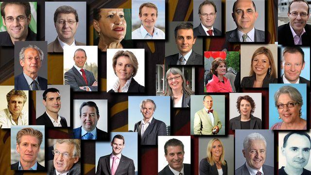 Les 29 candidats en lice à Genève.