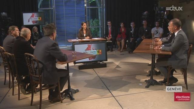 Débat pour le 1er tour des élections cantonales genevoises [RTS]