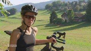 Rencontre avec la triathlète Maya Chollet, qui a réussi à utiliser le sport comme une thérapie contre les aléas de la vie [RTS]