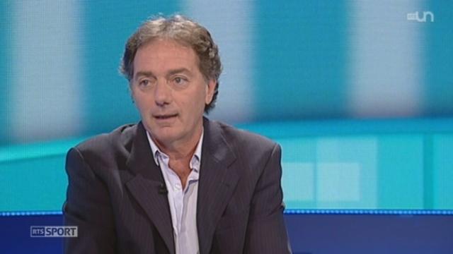 Football / Qualifications Mondial 2014: entretien avec Ottmar Hitzfeld et Michel Pont qui commentent le matche Suisse-Chypre [RTS]