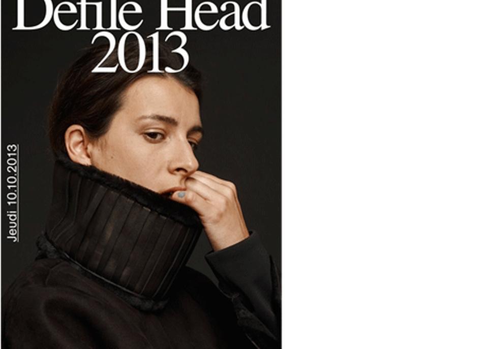 Affiche du défilé HEAD 2013 [Veste: Jérémy Gaillard Photo: Sandra Pointet. - HEAD-Genève]