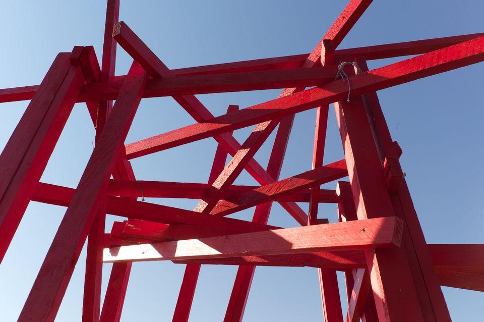 Oeuvre de la Triennale de sculpture de l'Université de Lausanne. [J. Goumaz - UNIL]
