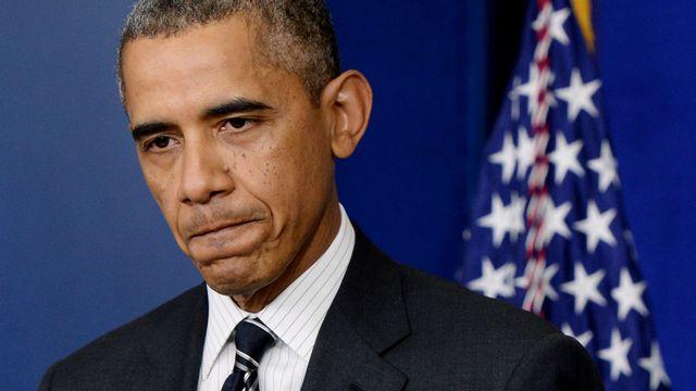 Barack Obama est déterminé pour l'heure à ne rien lâcher. [Michael Reynolds - AFP]