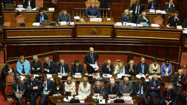 Le Premier ministre Enrico Letta a mis en garde les parlementaires contre l'instabilité. [Filippo Monteforte - AFP]