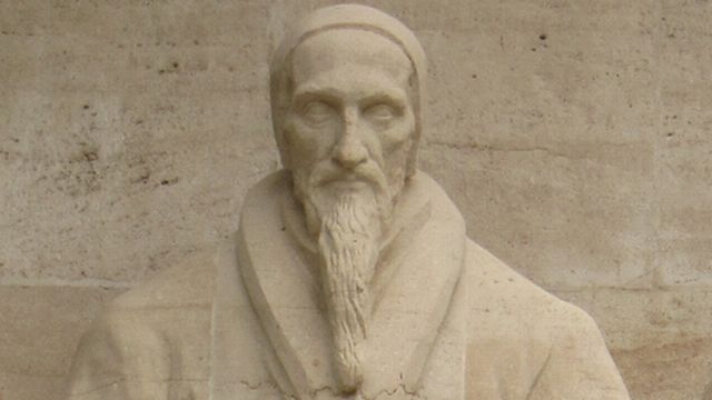 La statue de Jean Calvin sur le mur des réformateurs à Genève. R.Roulet Fotolia [R.Roulet - Fotolia]