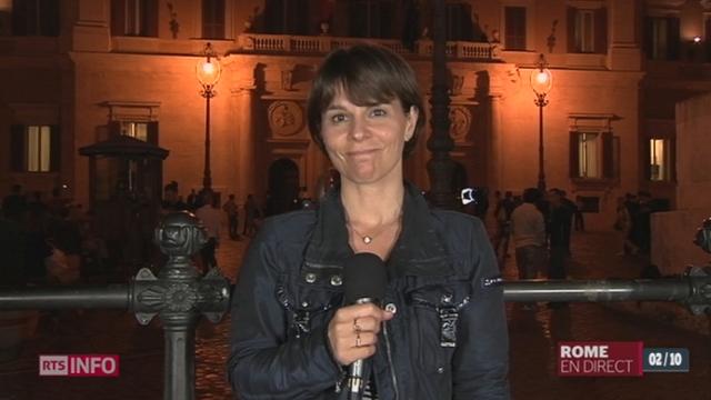 Vote de confiance du Sénat italien: les précisions de Valérie Dupont, depuis Rome [RTS]