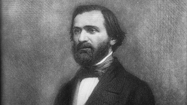 Giuseppe Verdi, gravure par J. Geoffroy. Vers 1860. [Roger Viollet - AFP]