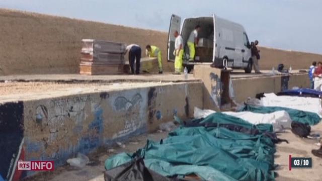 Un des plus graves naufrages de bateaux de clandestins a eu lieu au large de Lampedusa [RTS]
