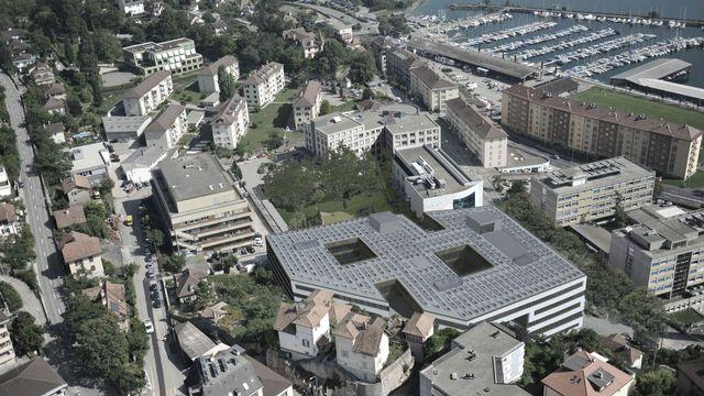 Densifiée et efficiente, la ville symbiotique repose sur une utilisation partagée des ressources, comme dans le cadre du projet Microcity à Neuchâtel. [Bauart]