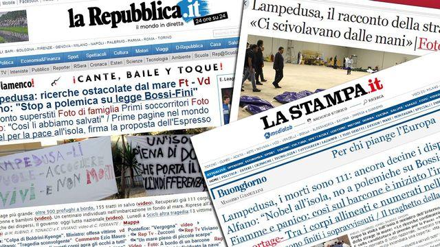 La presse italienne se déchaine après le drame de Lampedusa. [RTS]