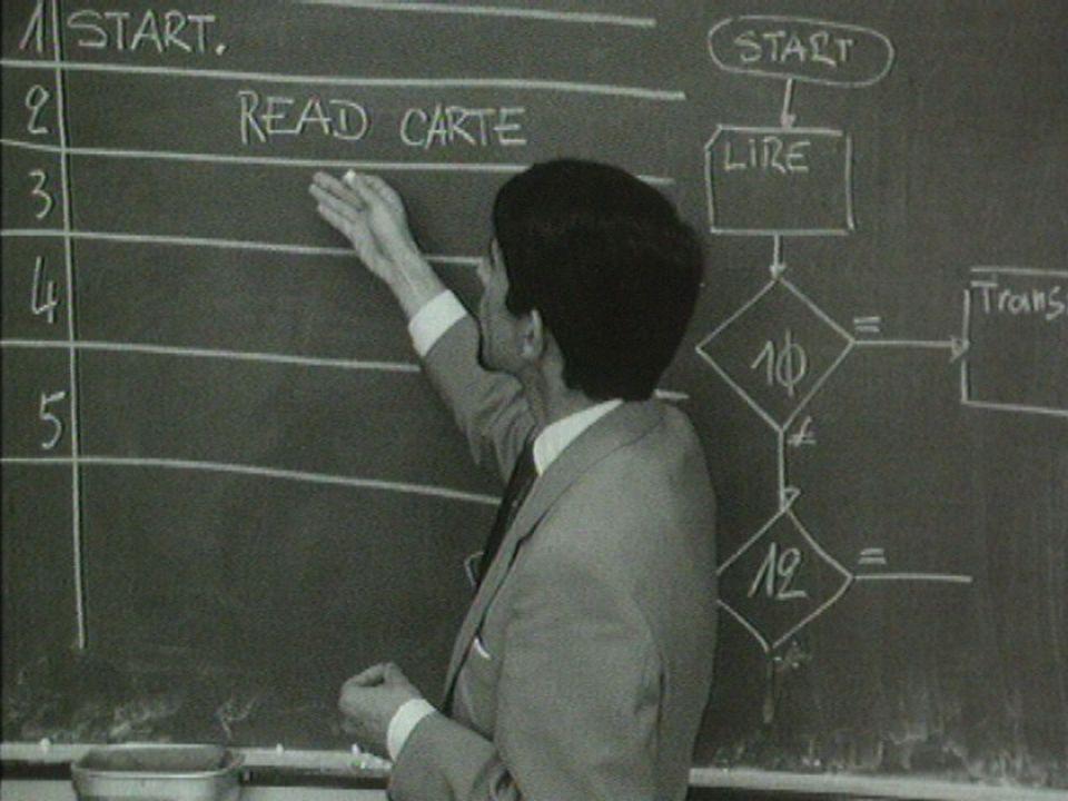 Le métier de programmeur en 1968. [RTS]