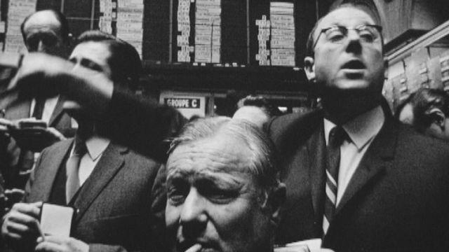 La bourse de Genève en 1970. [RTS]