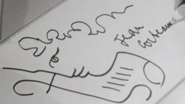 Le poète Cocteau dessine Orphée. [RTS]