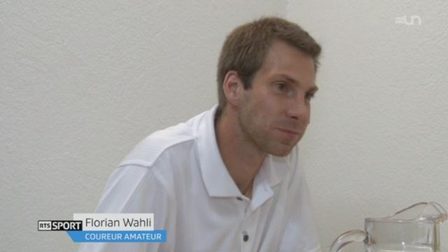 Le coureur Florian Wahli accueille chaque année un kenyan qui participera à la course Morat - Fribourg [RTS]