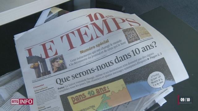 Les premiers noms de repreneurs circulent dans l'achat du journal «Le Temps» [RTS]