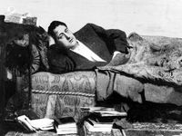L' écrivain français Guillaume Apollinaire en 1909. [Harlingue / Roger-Viollet - AFP]