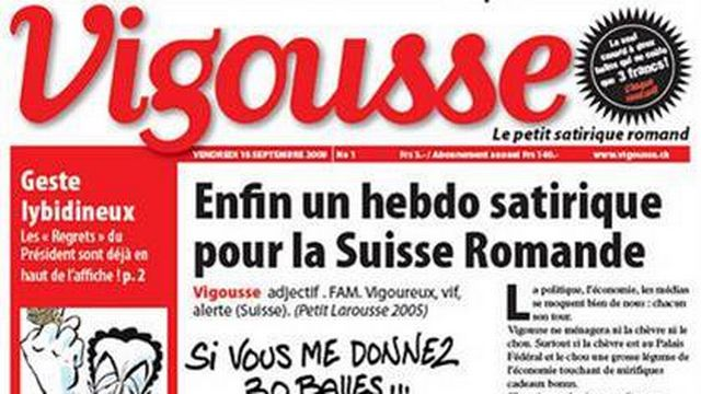 L'hebdomadaire satirique romand Vigousse peut bénéficier de l'aide à la presse.