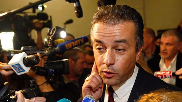 Laurent Lopez, candidat FN, a remporté l'élection à Brignoles, dans le sud de la France. [Claude Paris - AP/Keystone]