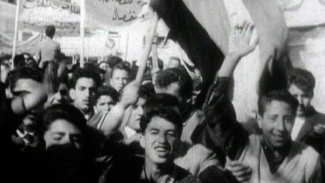 Une manifestation en Syrie en 1963. [RTS]