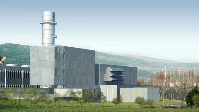 La vieille centrale thermique de Cornaux, dans le canton de Neuchâtel. Gaskombikraftwerk/Groupe E Keystone [Gaskombikraftwerk/Groupe E - Keystone]