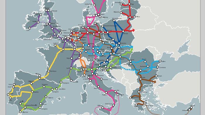 Carte Ferroviaire Deurope.L Europe Devoile Le Projet D Un Vaste Reseau De Transports D