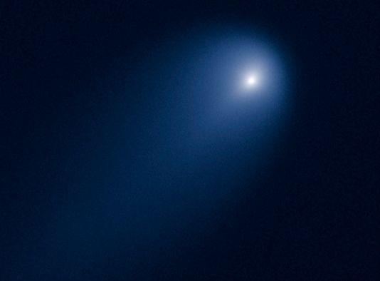 La Nasa a publié une nouvelle image de la comète ISON, prise le 9 octobre par le télescope spatial Hubble. [NASA/ESA - Keystone]
