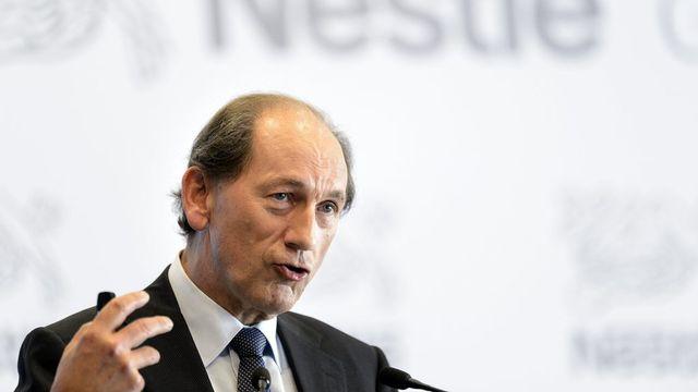 Le CEO de Nestlé Paul Bulcke a perçu en 2012 un salaire de plus de 12,6 millions de francs. Le salaire le plus bas s'élève lui à 53'000 francs en un an. L'écart s'établit à 1:238. [Keystone]
