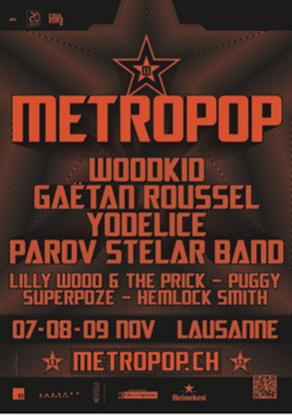 L'affiche du Métropop 2013. [metropop.ch]