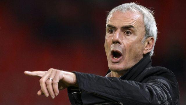 Le couperet est tombé: Michel Decastel n'est plus l'entraîneur du FC Sion. [Laurent Gillieron - Keystone]
