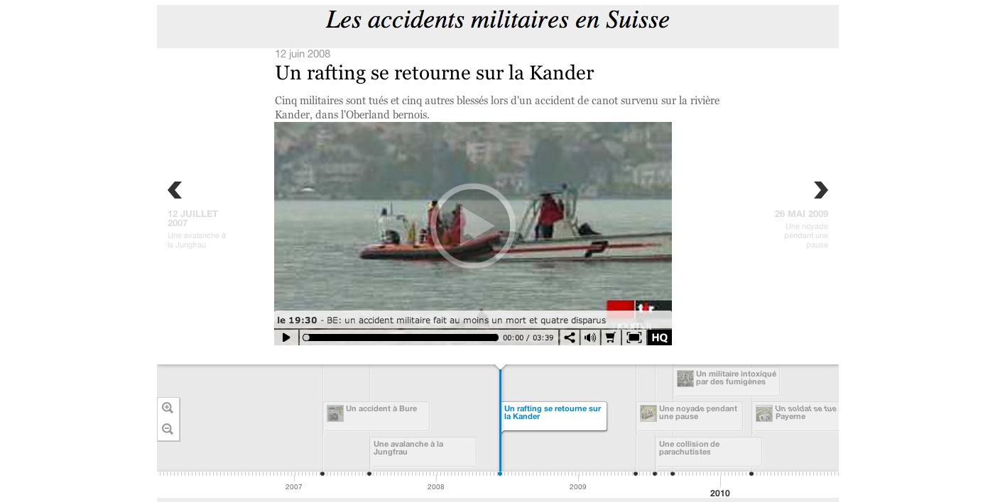 Les accidents militaires en Suisse