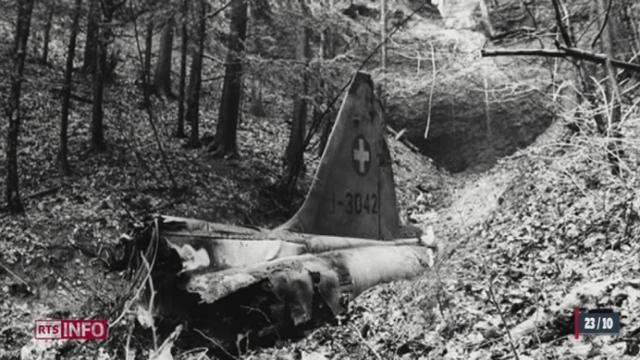 Un autre F-A-18 s'était écrasé à Crans Montana en 1998 [RTS]